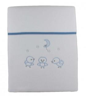 Manta Polar Chick. Azul