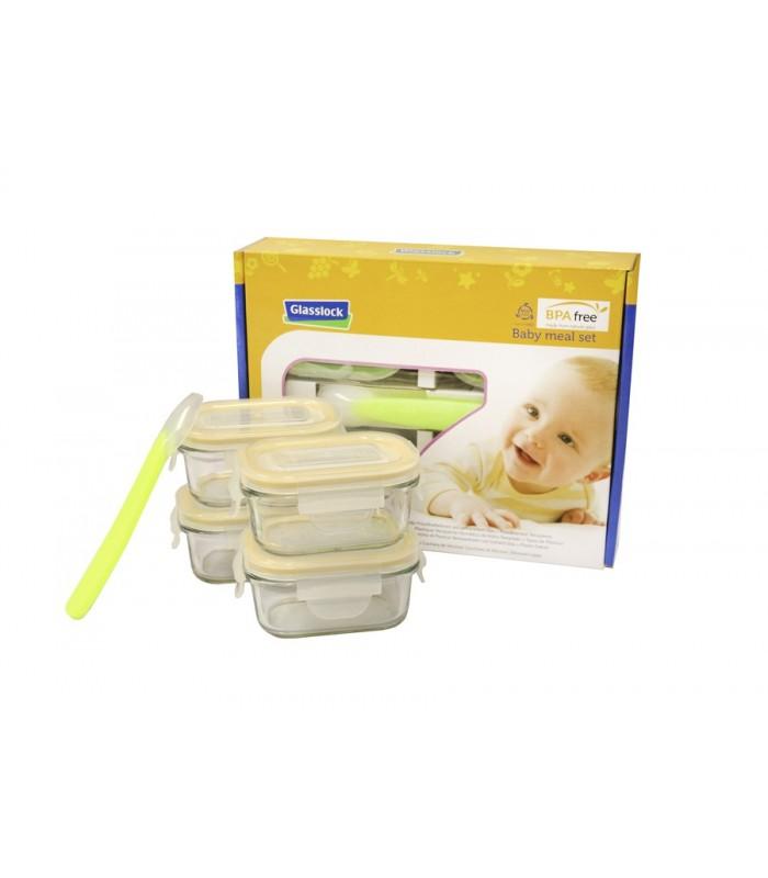 Glasslock. Baby meal set. 4+1